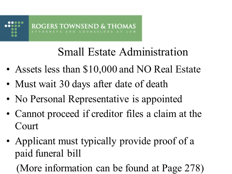 Small Estate Administration