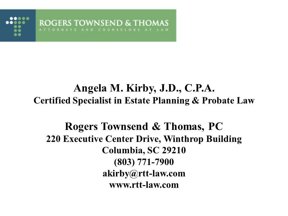 Certified Specialist in Estate Planning & Probate Law
