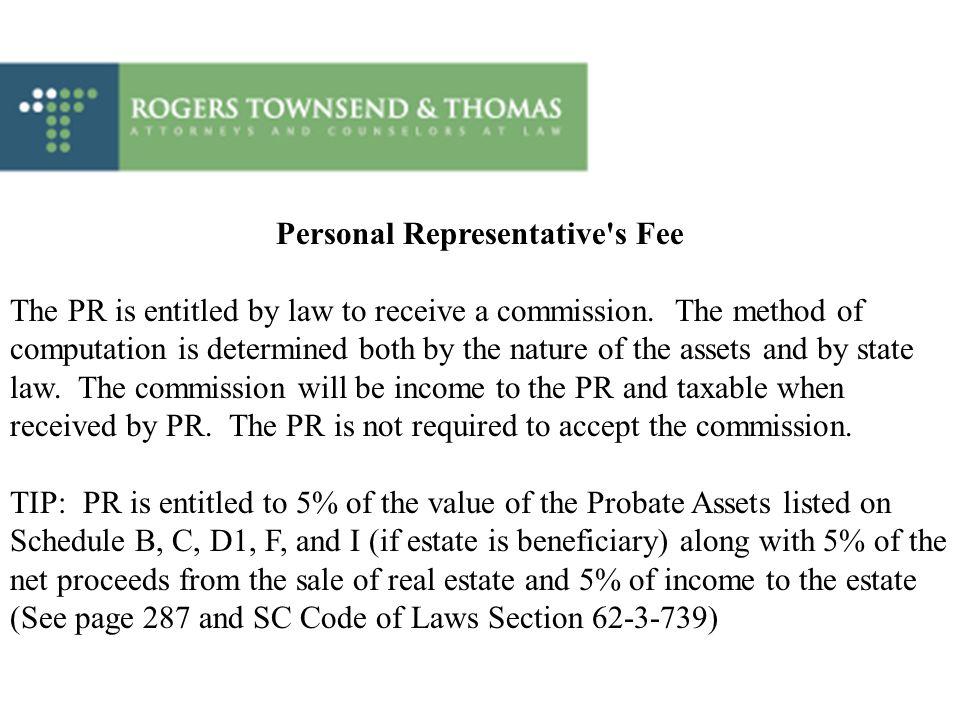 Personal Representative s Fee