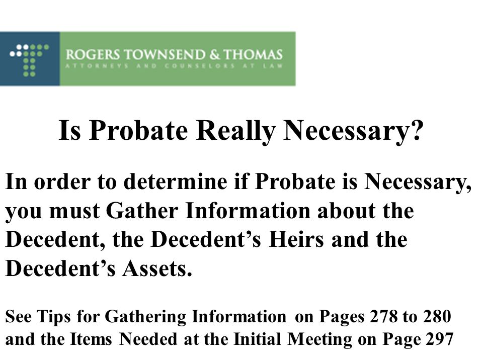 Is Probate Really Necessary