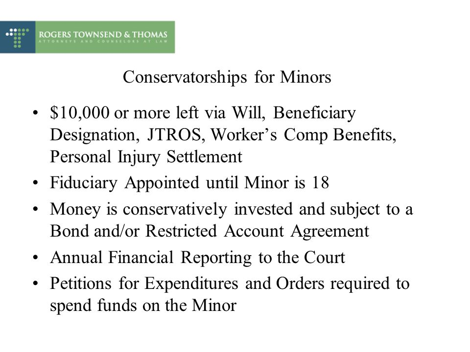Conservatorships for Minors