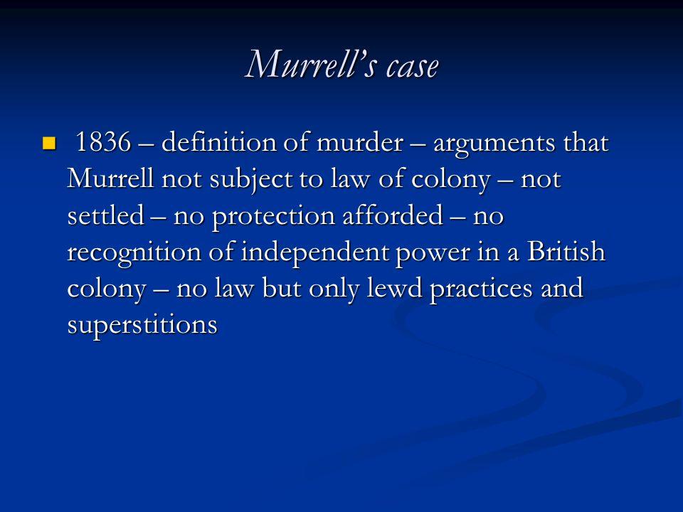 Murrell's case