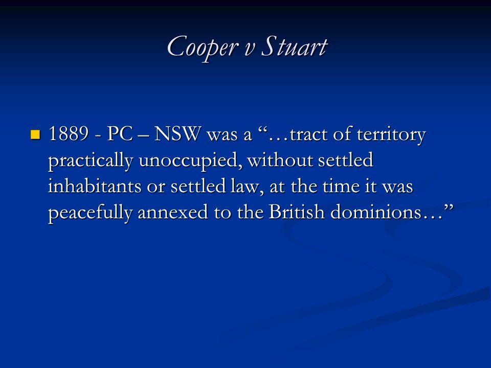 Cooper v Stuart