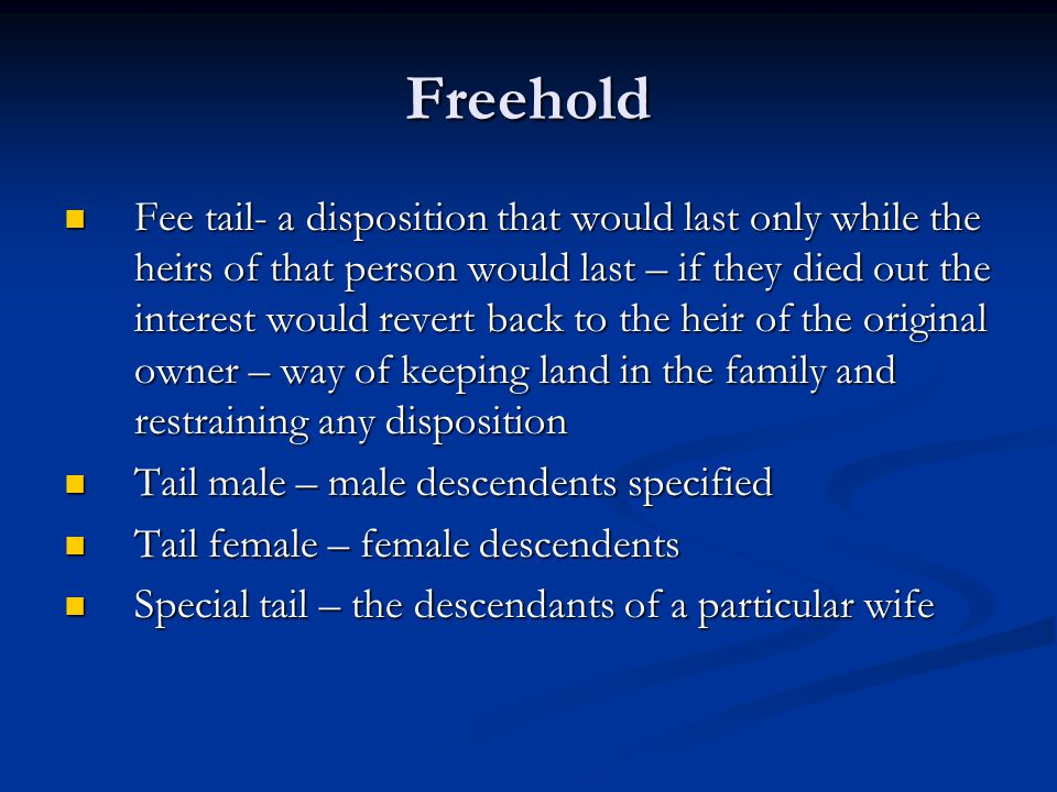 Freehold