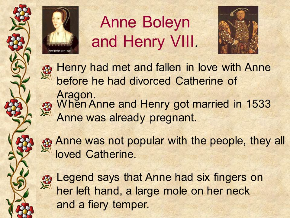 Anne Boleyn and Henry VIII.