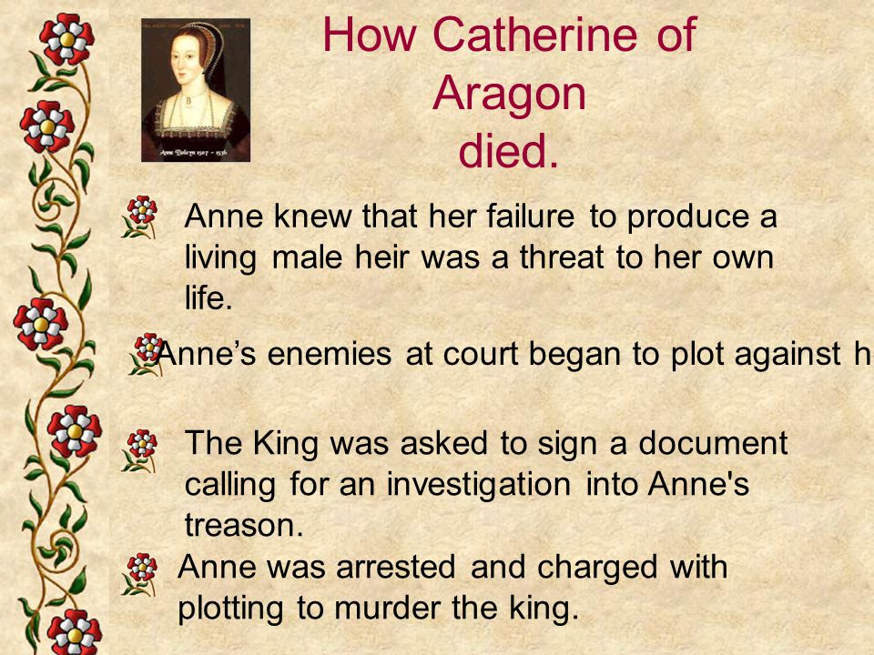 How Catherine of Aragon died.