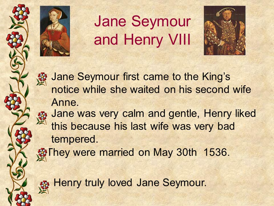 Jane Seymour and Henry VIII