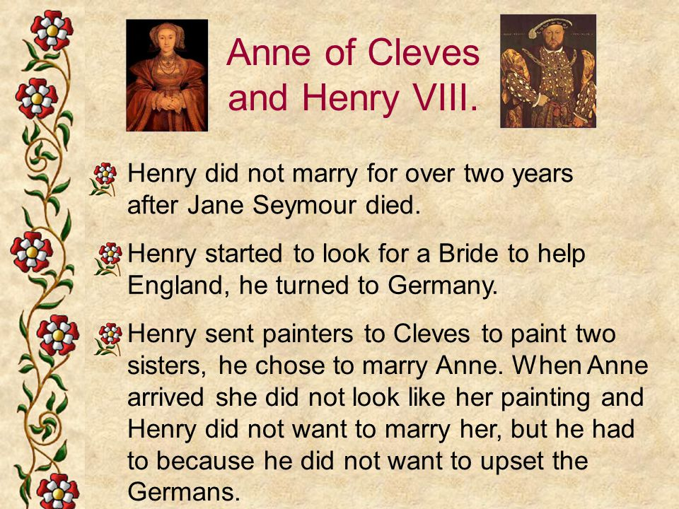 Anne of Cleves and Henry VIII.