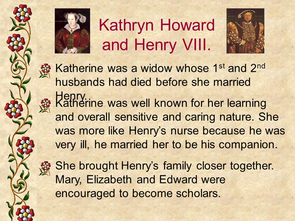 Kathryn Howard and Henry VIII.