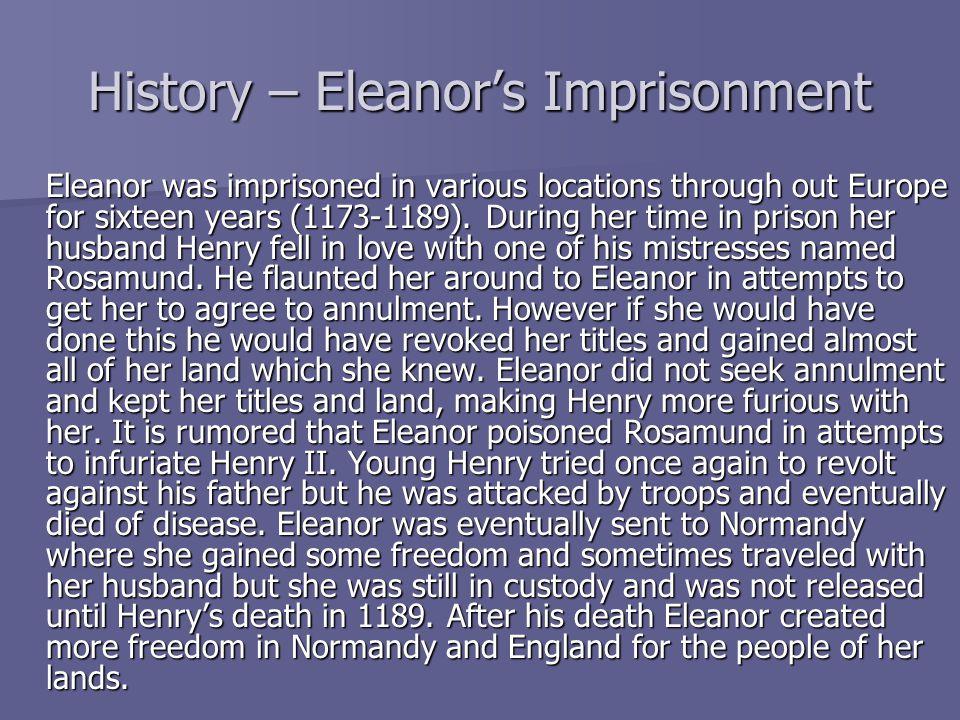 History – Eleanor's Imprisonment