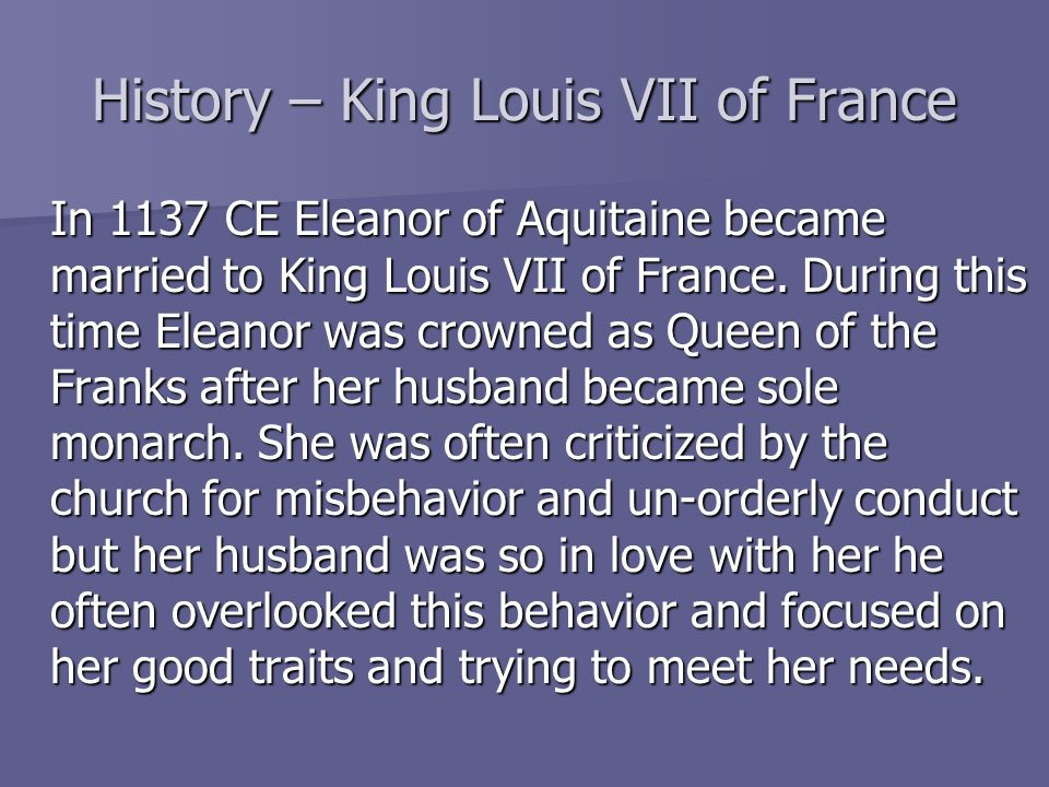 History – King Louis VII of France