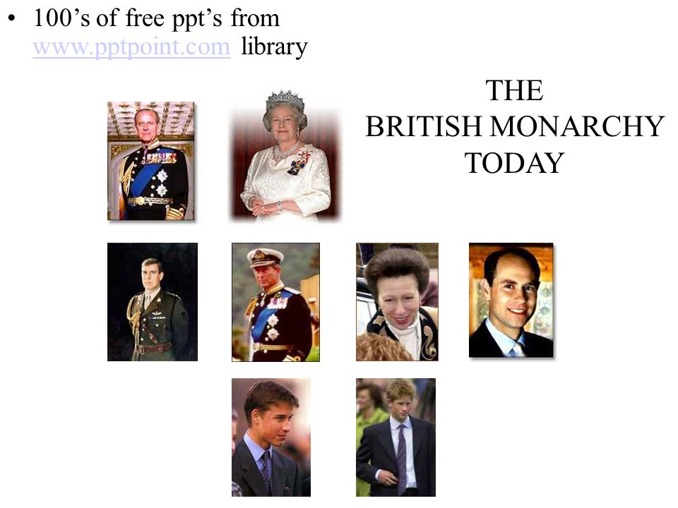 BRITISH MONARCHY TODAY