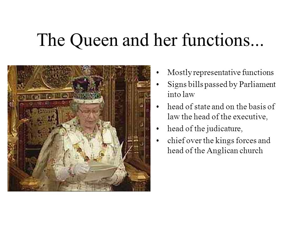 The Queen and her functions...