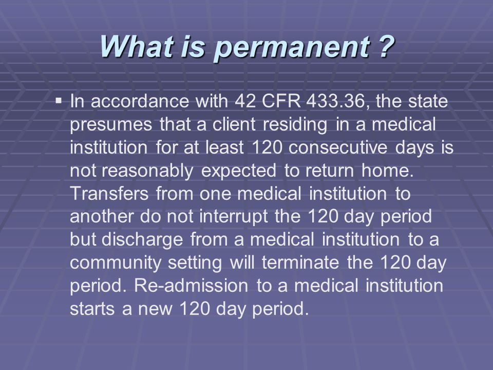 What is permanent