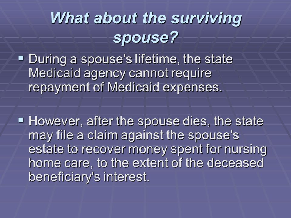 What about the surviving spouse