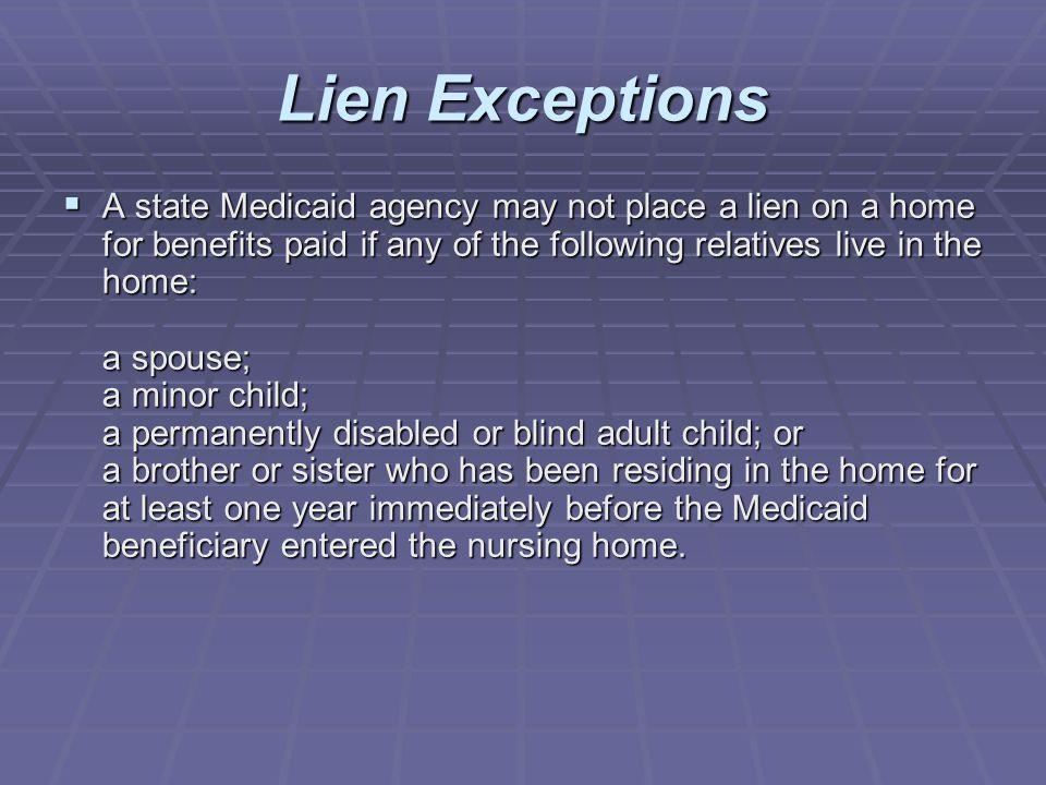 Lien Exceptions