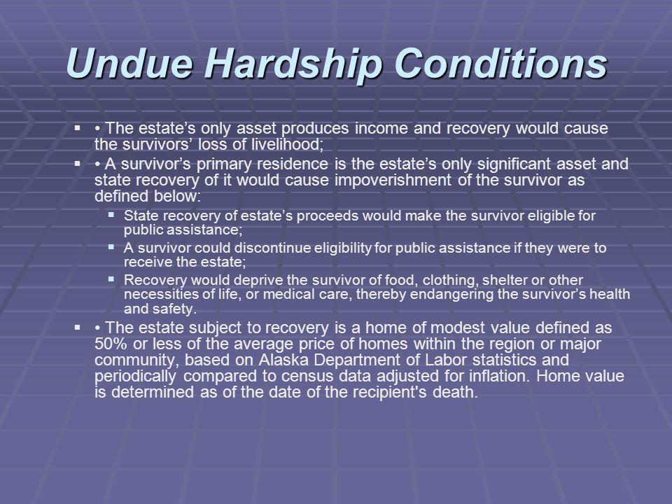 Undue Hardship Conditions