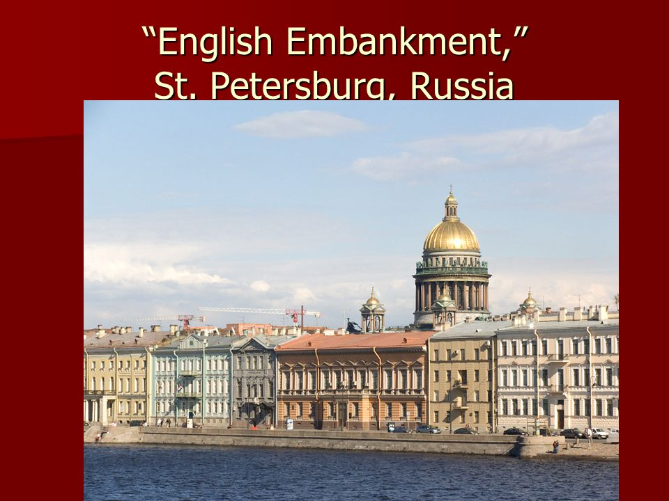 English Embankment, St. Petersburg, Russia