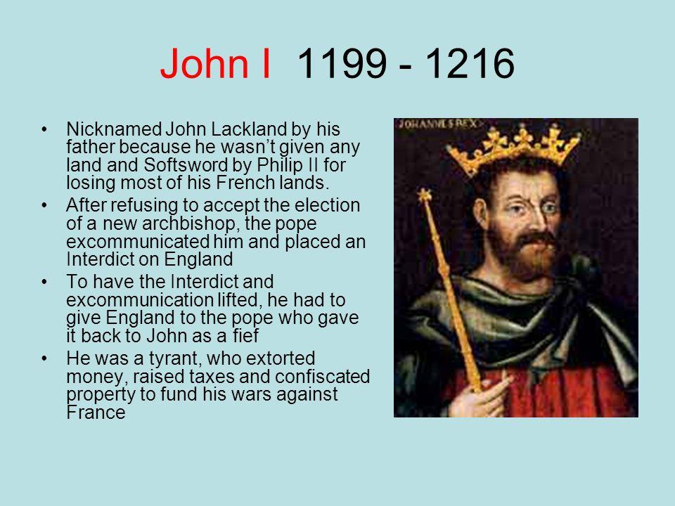 John I 1199 - 1216