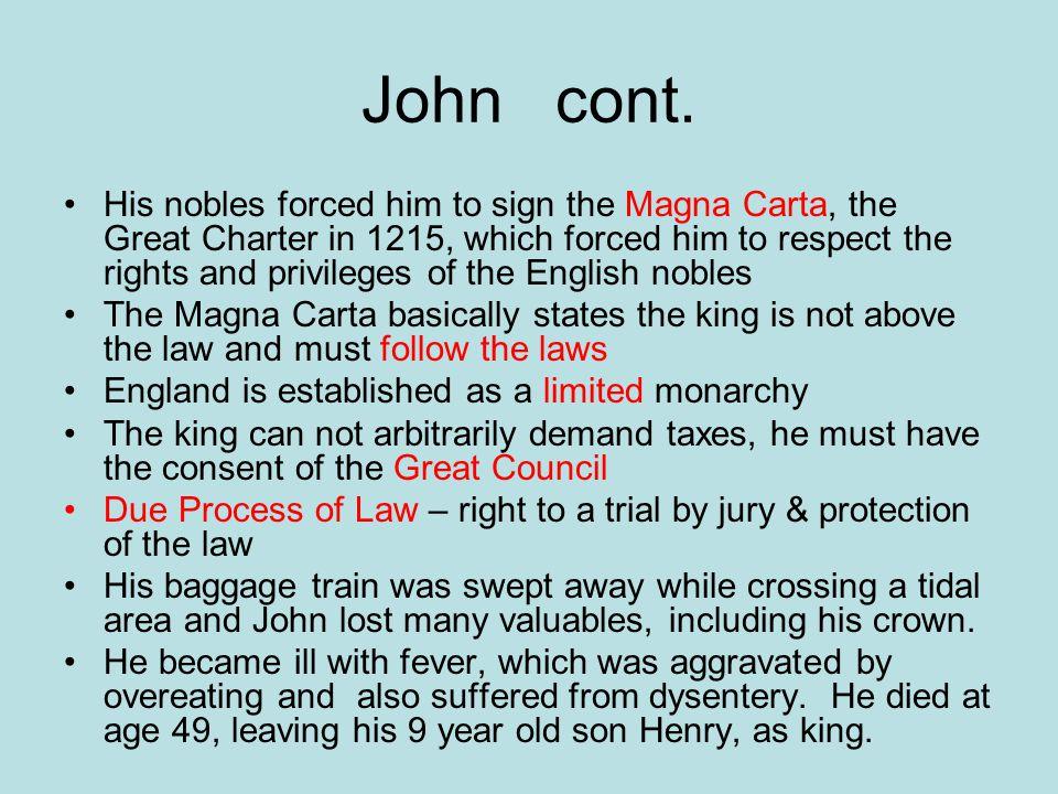 John cont.