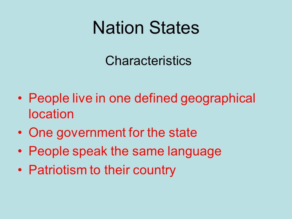 Nation States Characteristics