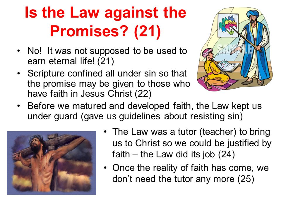 Is the Law against the Promises (21)