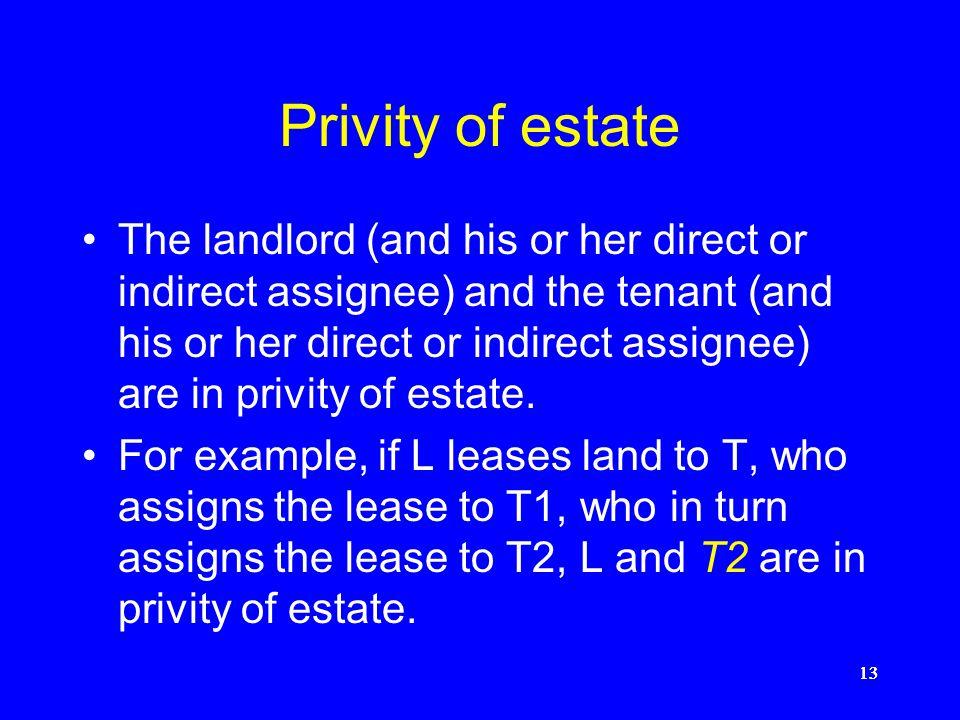 Privity of estate