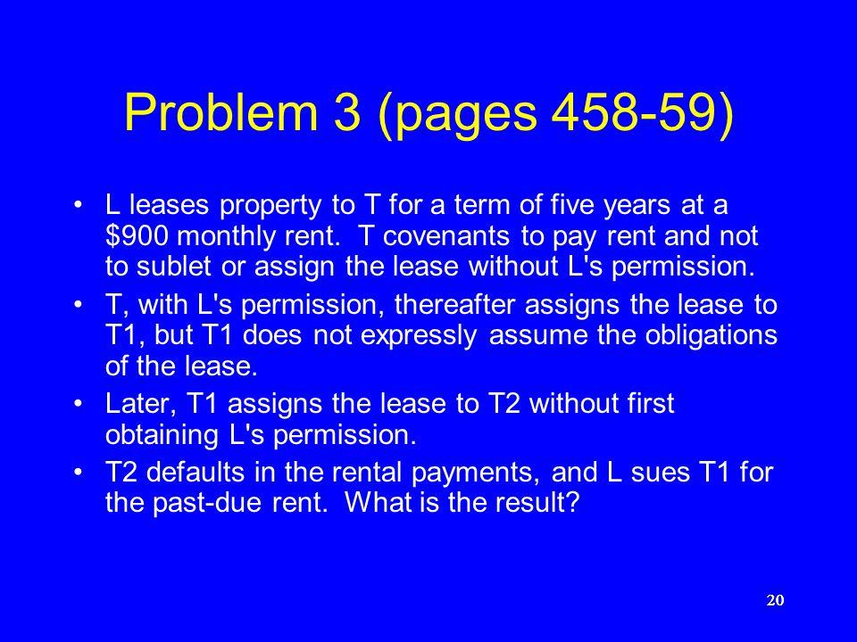 Problem 3 (pages 458-59)