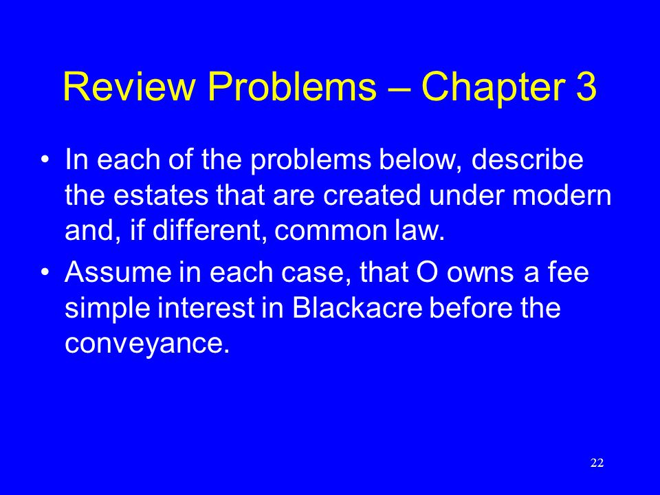 Review Problems – Chapter 3