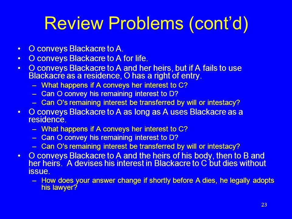 Review Problems (cont'd)