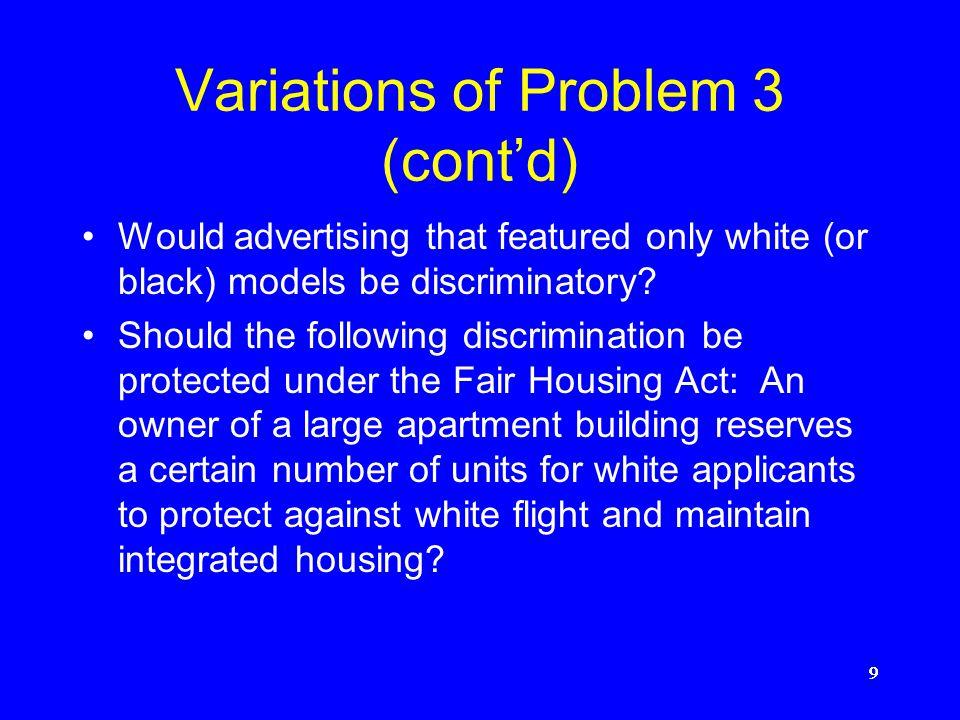 Variations of Problem 3 (cont'd)