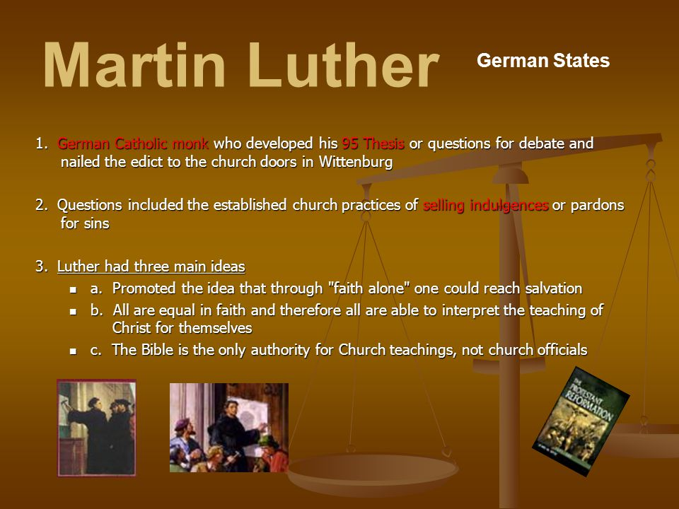 Martin Luther German States