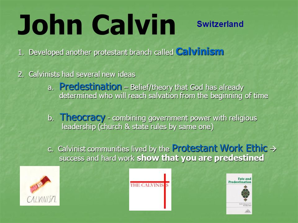 John Calvin Switzerland