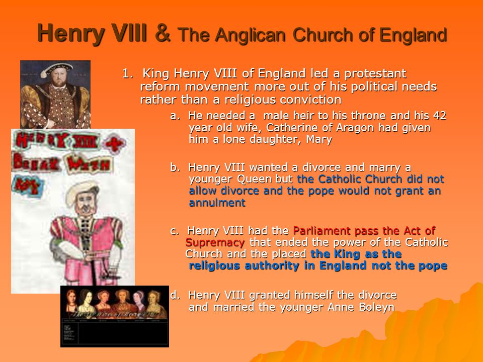 Henry VIII & The Anglican Church of England