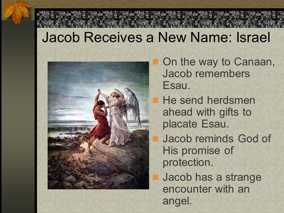 Jacob Receives a New Name: Israel