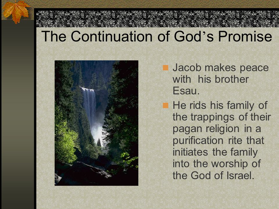 The Continuation of God's Promise