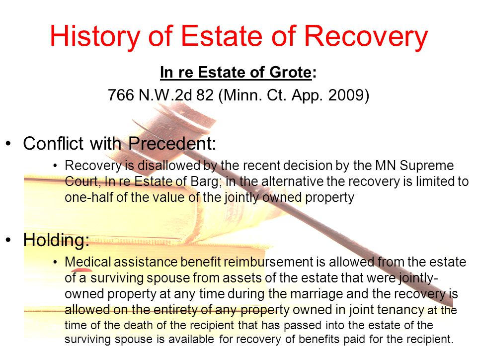 History of Estate of Recovery
