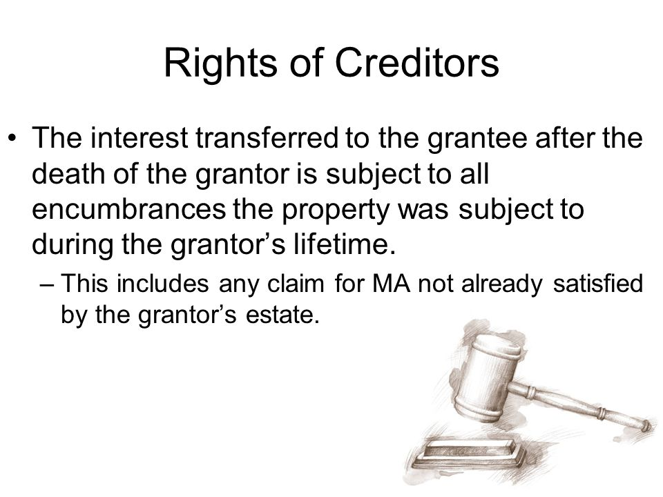 Rights of Creditors