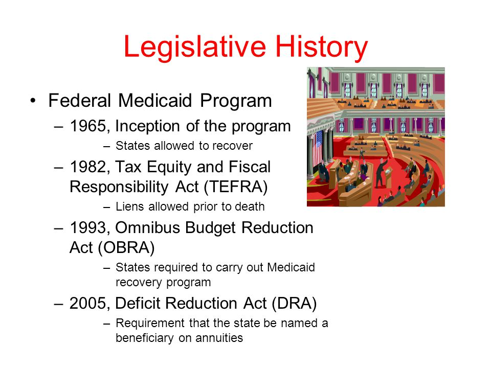 Legislative History Federal Medicaid Program