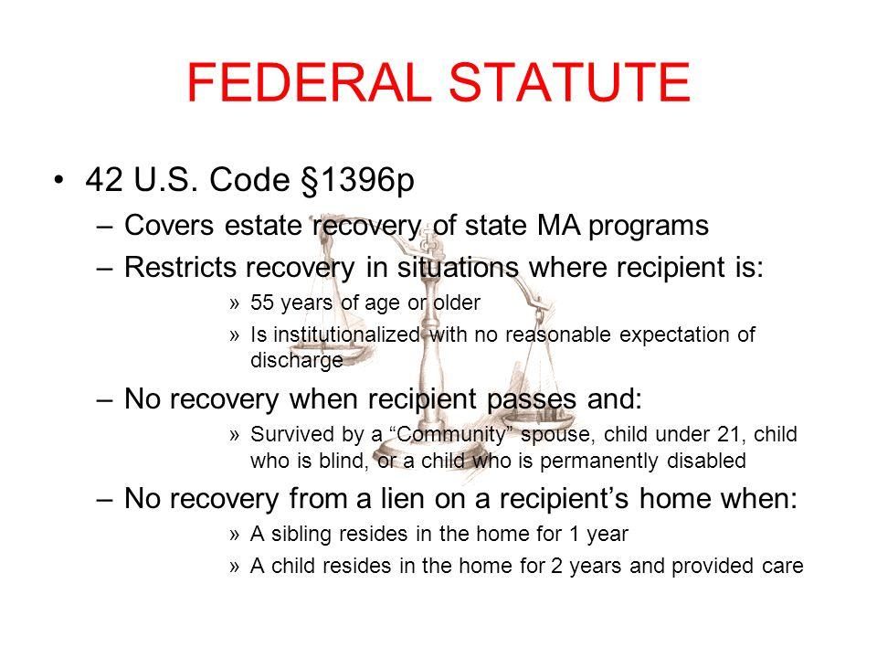 FEDERAL STATUTE 42 U.S. Code §1396p