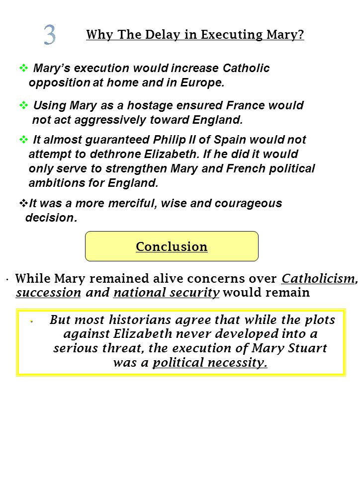 Why The Delay in Executing Mary