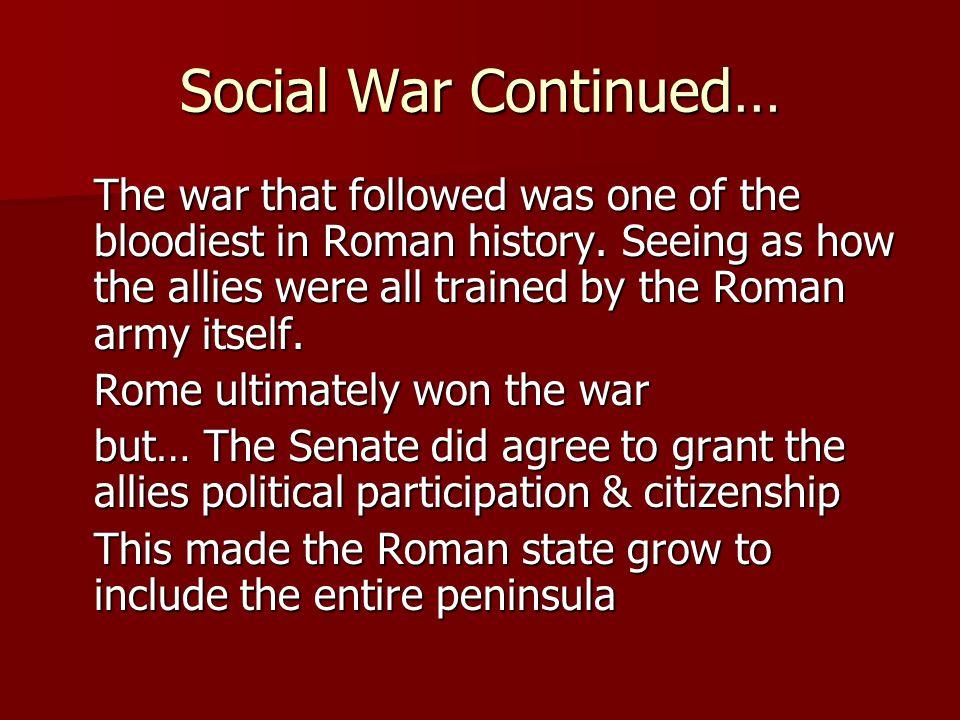 Social War Continued…