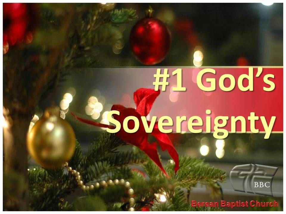#1 God's Sovereignty