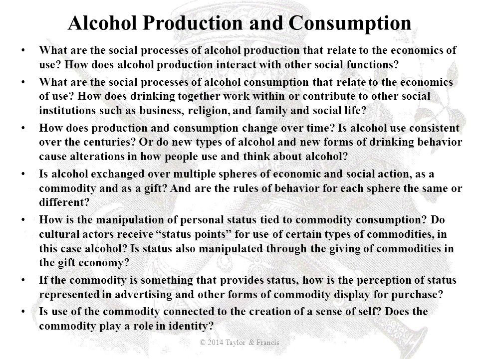 Alcohol Production and Consumption