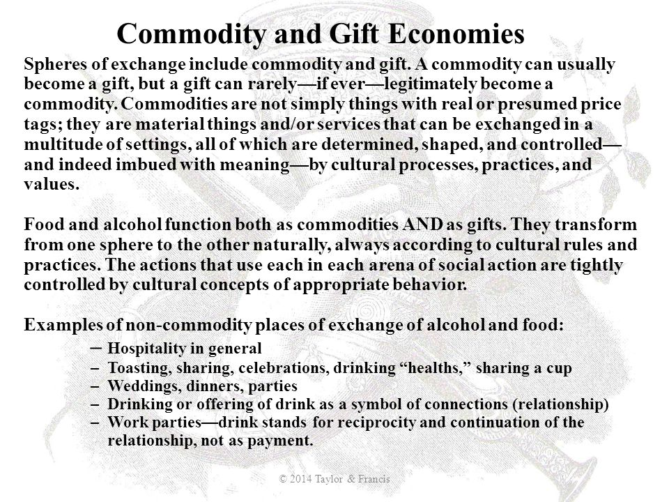 Commodity and Gift Economies
