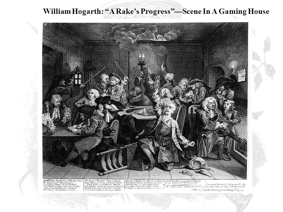 William Hogarth: A Rake's Progress —Scene In A Gaming House