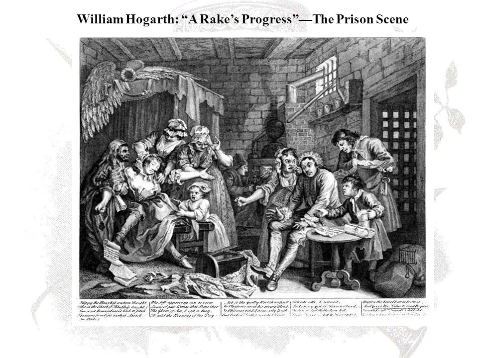 William Hogarth: A Rake's Progress —The Prison Scene