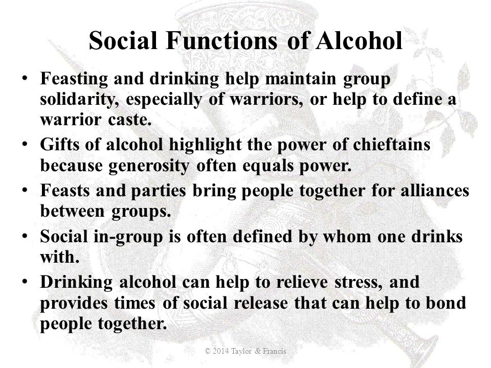 Social Functions of Alcohol