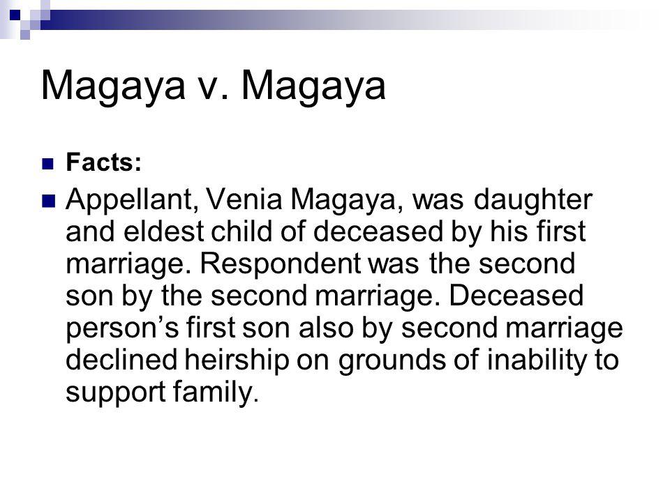 Magaya v. Magaya Facts:
