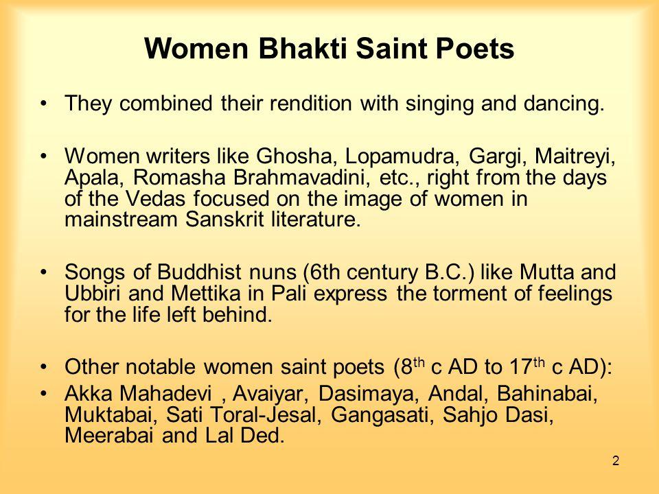 Women Bhakti Saint Poets